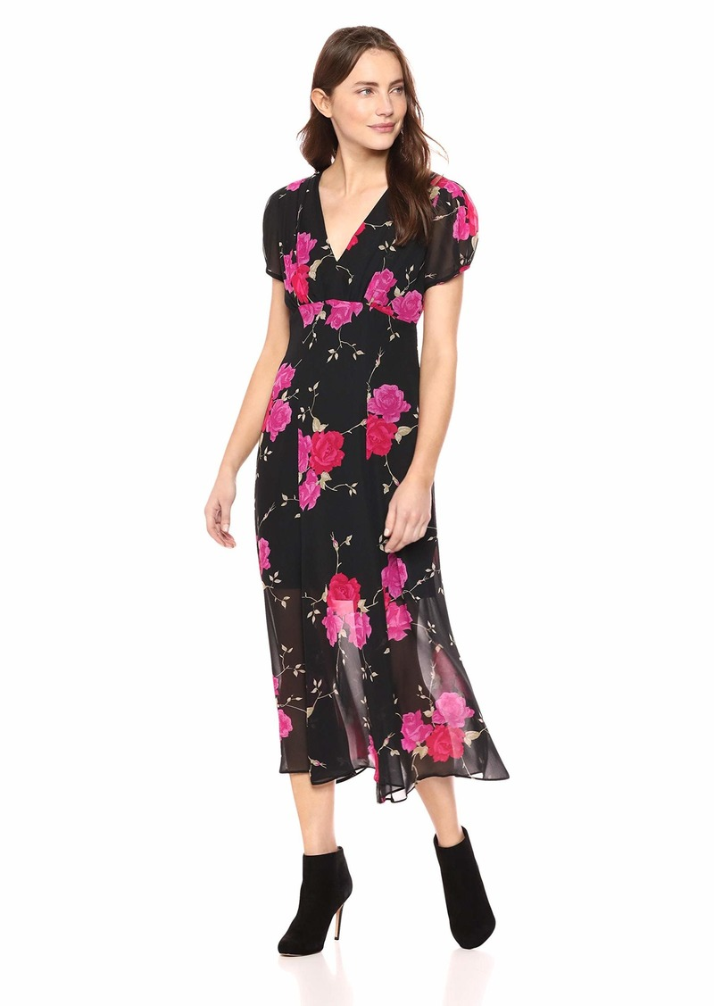 Betsey Johnson Junior's Vintage Floral Print Maxi Dress
