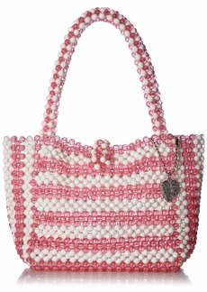 Betsey Johnson Just Bead It Bag pink