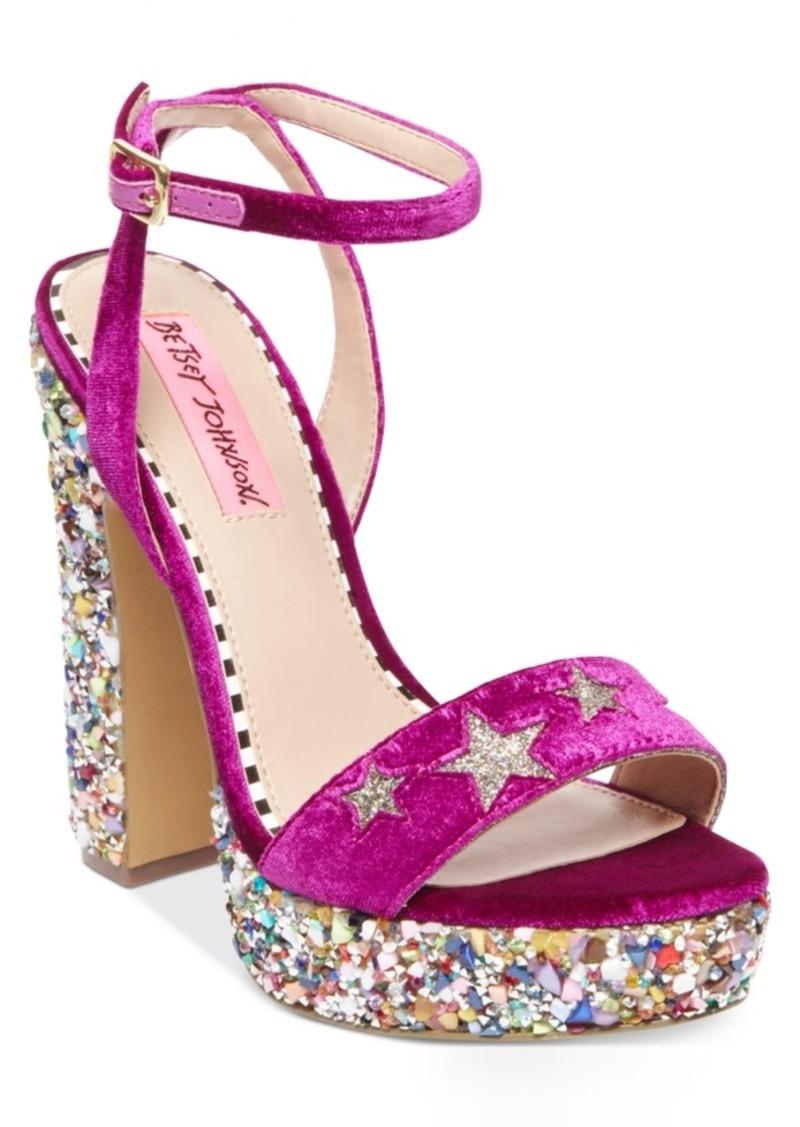 225abded16 Betsey Johnson Kenna Platform Block-Heel Sandals Women's Shoes