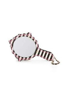 Betsey Johnson Kitsch Mirror Striped Wristlet
