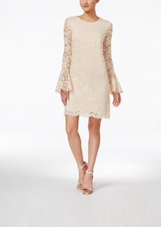 Betsey Johnson Lace Bell-Sleeve Sheath Dress