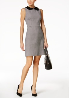 Betsey Johnson Lace-Collar Houndstooth Sheath Dress