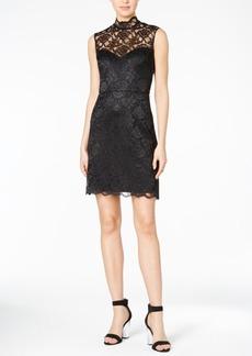 Betsey Johnson Lace Cutout-Back Sheath Dress