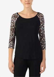 Betsey Johnson Lace-Heart Pajama Top