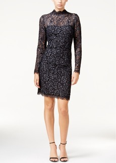 Betsey Johnson Lace Mock-Neck Sheath Dress