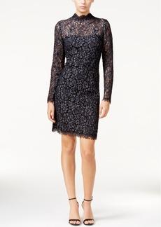 Betsey Johnson Lace Mock-Neck Sheath Dress