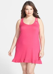 Betsey Johnson Lace Racerback Ruffle Slip (Plus Size)