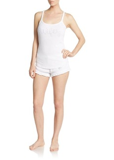 Betsey Johnson Lace Tee & Shorts Set