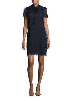 BETSEY JOHNSON Lace Tie-Neck Dress