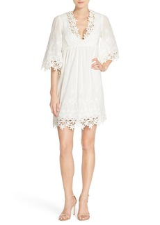 Betsey Johnson Lace Trim Cotton Tunic Dress
