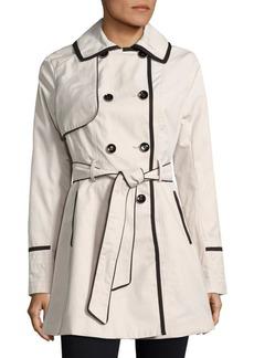 Betsey Johnson Lace-Up Back Corset Trench Coat