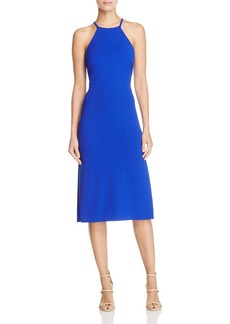 Betsey Johnson Lace-Up Back Halter Dress