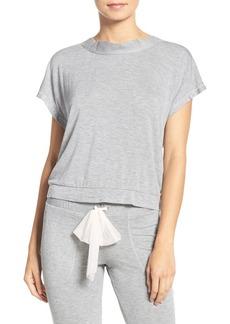 Betsey Johnson Lace-Up Back Terry Sweatshirt