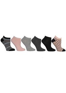 Betsey Johnson Ladies Low Cut Socks, Pack of 6