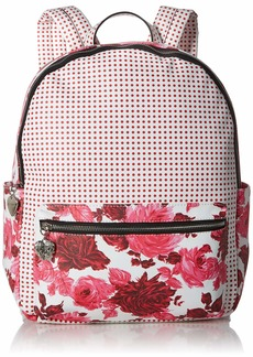Betsey Johnson Large PVC Floral Backpack