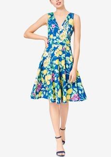 Betsey Johnson Lemon-Print Fit & Flare Dress