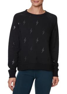 Betsey Johnson Lightning Glitter Sweatshirt