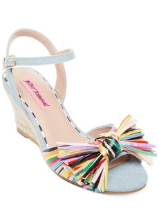 Betsey Johnson Lizzie Wedge Sandals Women's Shoes