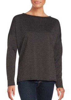 Betsey Johnson Long Sleeve Split Hem Top