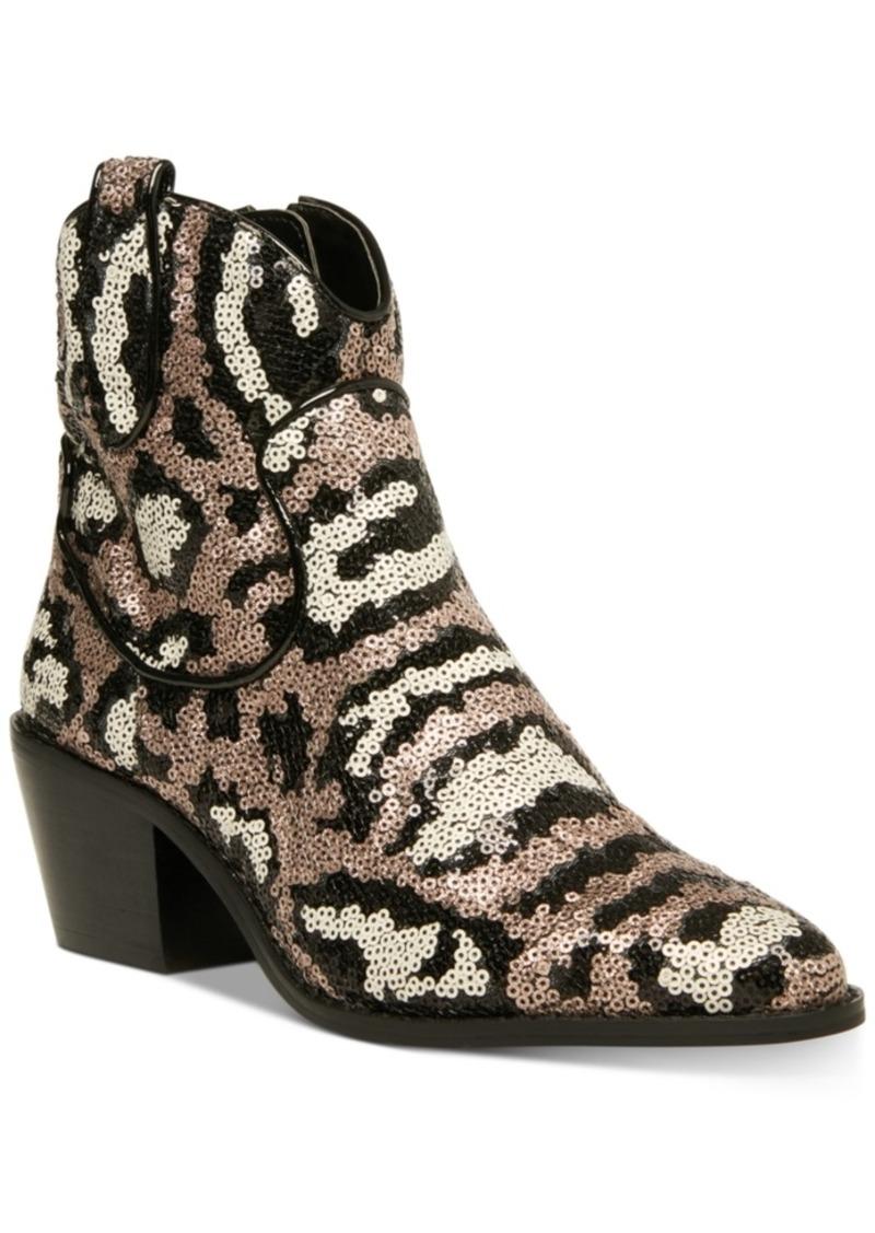 Betsey Johnson Lucki Western Booties Women's Shoes
