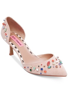 Betsey Johnson Max Kitten-Heel Pumps Women's Shoes