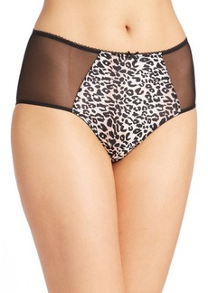Betsey Johnson Mesh-Accented Panties