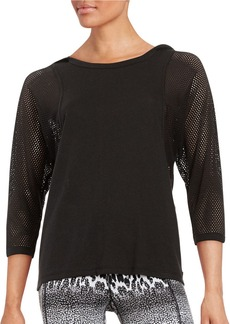 BETSEY JOHNSON Mesh Batwing Athletic Top