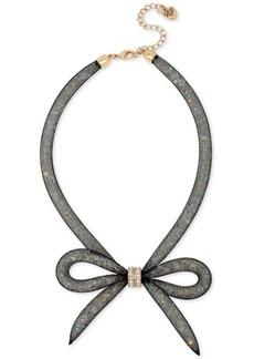 Betsey Johnson Mesh Bow Collar Necklace