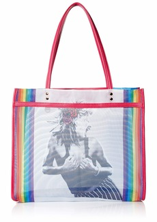 Betsey Johnson Mesh is Fresh Tote rainbow