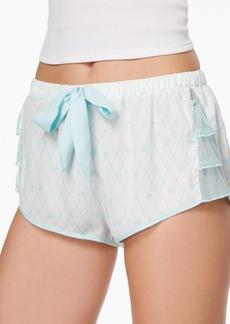 Betsey Johnson Mesh-Ruffle Shorts