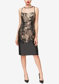 Betsey Johnson Metallic Floral Sheath Dress