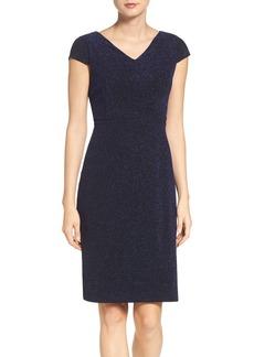 Betsey Johnson Metallic Knit Sheath Dress