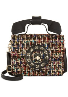 Betsey Johnson Metallic Phone Crossbody