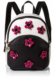 Betsey Johnson Mini Backpack black/white