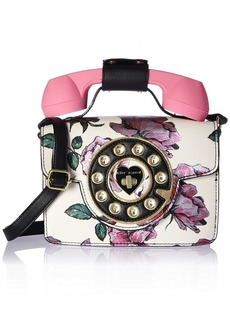 Betsey Johnson Mini Purple Flower Print Phone Bag