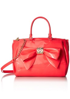 Betsey Johnson NEON Bow Satchel Crossbody