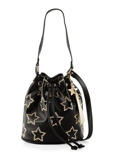 Betsey Johnson Night Lights Star-Studded Bucket Bag