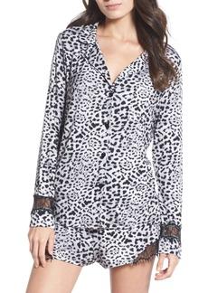 Betsey Johnson Notch Collar Short Pajamas