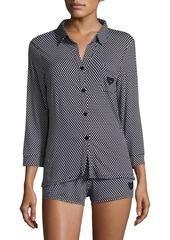 Betsey Johnson Notch Short Pajamas