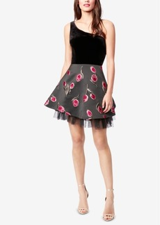 Betsey Johnson One-Shoulder Fit & Flare Dress