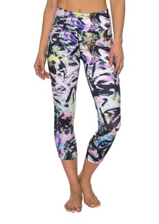 Betsey Johnson Painted Pastel Printed Crop Legging