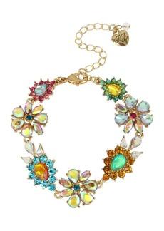 Betsey Johnson Paradise Lost Crystal Floral Bracelet