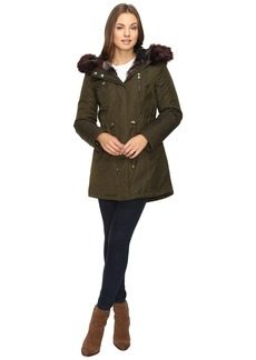 Betsey Johnson Parka w/ Multi Fur Hood
