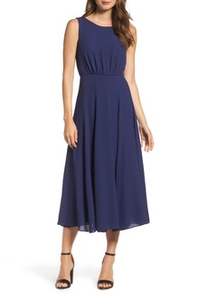 Betsey Johnson Pebble Crepe Midi Dress