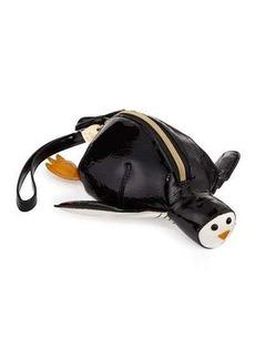 Betsey Johnson Penguin Faux-Leather Wristlet