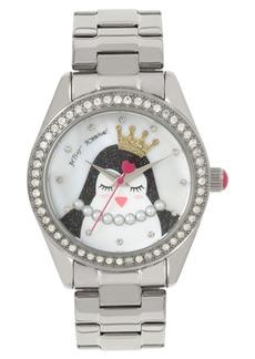 Betsey Johnson Penguin Motif Dial Watch