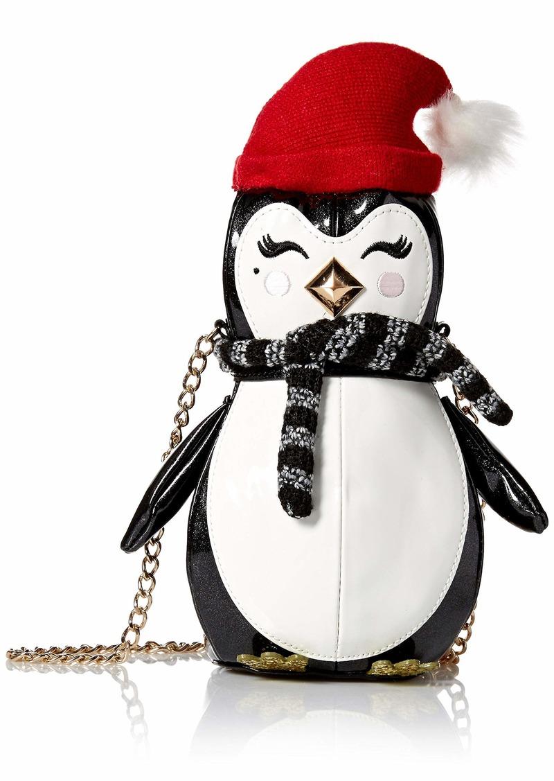 Betsey Johnson Penguino Crossbody Bag black/white