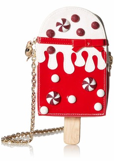 Betsey Johnson Peppermint Pop Crossbody Bag  red