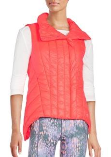 Betsey Johnson Performance Asymmetrical Puffer Performance Vest