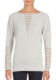 Betsey Johnson Performance Cotton-Blend Pullover